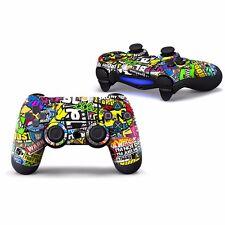 """Sticker Skin Aufkleber """"Stickerbomb"""" für Playstation PS4 Controller"""