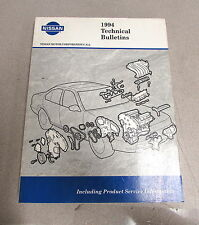 1994 Nissan Technical Service Bulletins Manual Product Information