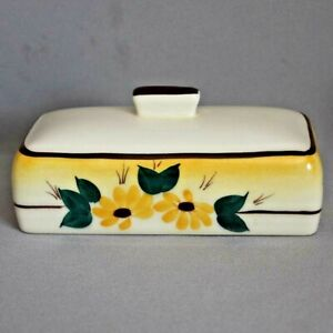 VERNON KILNS Brown Eyed Susan Montecito Shape BUTTER DISH LID only