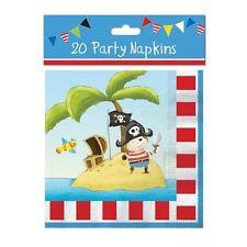 20 parti pirate serviettes vaisselle serviette tissu décoration kids fun anniversaire