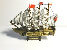 """Wooden HMS Victory tall model ship.  Ship Model Fully Assembled.  7"""" long"""