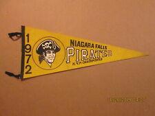 NYPL Niagara Falls Pirates Vintage Defunct 1972 NYP Champions Baseball Pennant