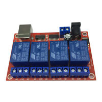 24V 4 Channel Relay Module Programmable Computer Control USB Control Driver
