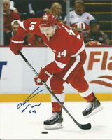 GUSTAV NYQUIST signed 8x10 photo DETROIT RED WINGS