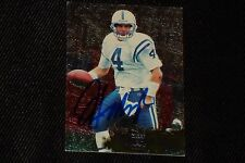 JIM HARBAUGH 1996 FLEER METAL SIGNED AUTOGRAPHED CARD #55 COLTS