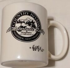 Country Roads Motorcycle Rally West Virginia Ceramic Mug Snowshoe White Black