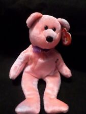 TY BEANIES CLUBBY 5th ANNIVERSARY BEAR (LAST ONE) VHTF TEDDY BEAR PINK
