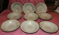 Lot of 9 Baroque Hearthside Stoneware Japan Coupe Cereal Soup Bowls