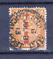 China 1 Cent Overprinted used