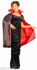 "CAPE Deluxe Reversible Vampire 45"" Black & Red Unisex Fancy Dress Costume"