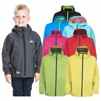 Trespass Qikpac Kids Waterproof Jacket Breathable Boys Girls School Raincoat