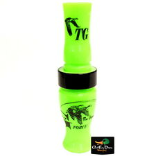 Tim Grounds G Force Short Reed Canada Goose Call Lime Green Acrylic Black Band