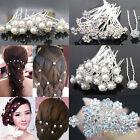 Fashion 20Pcs Wedding Bridal Pearl Flower Crystal Hairpin Hair Clips Bridesmaid