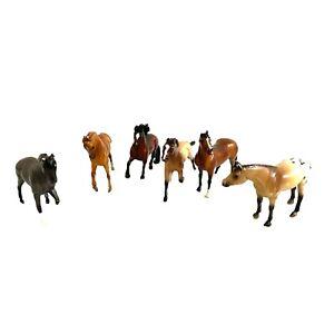 Breyer Reeves Horse Figurine Miniature Stamp Black Brown Chestnut Spotted Lot 6
