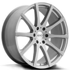 "(4) 22"" Azad Wheels AZ1970 Brushed Silver Rims(B32)"
