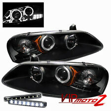 >>LED LIGHT BAR KIT<< 01-03 CHRYSLER SEBRING Projector Black Headlight Halo Lamp
