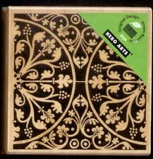HERO ARTS  rubber stamp ANTIQUE MOSAIC wood mounted