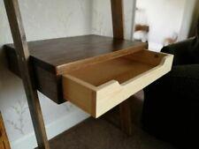 handmade wooden ladder desk with drawer