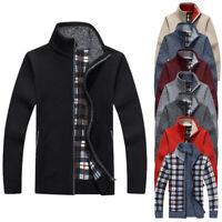 ✅Men's Thicken Zipper Knitwear Coat Sweater Jacket Winter Warm Cardigan Outwear