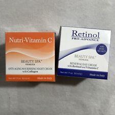 New Gift Facial Cream Venezia Anti Aging Collagen Dead Sea Salt Day Night Set