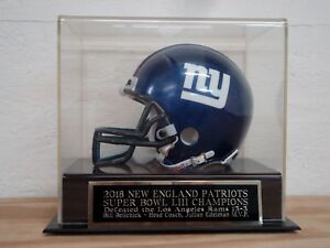 New England Patriots Football Mini Helmet Case With A Super Bowl 53 Nameplate
