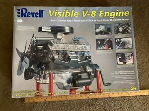 REVELL Visible V-8 Engine 1:4 Scale Model Hand Crank In Box in packages