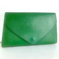 LOUIS VUITTON ART DECO Clutch Bag Purse Epi M52634 Borneo Green