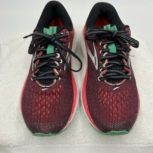 Brooks Ghost 11 Running Shoes Women's Size 9 B Black/Pink/Green