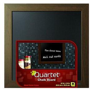 "Quartet Chalkboard, 14"" x 14"" Chalk Board, White Wood Finish Frame (90006)"