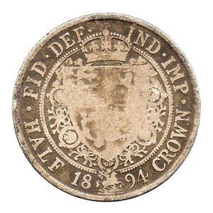 KM# 782 - Half Crown - 2&1/2 Shillings - Victoria - Great Britain 1894 (Fair)