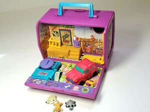 Vtg 1995 Pound Puppies Purries Mini Folding Pet Paradise Alley Playset Dogs Cat