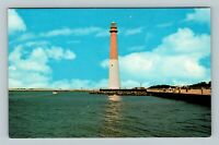 Barnegat NJ, Historic Lighthouse, Long Beach Island, Chrome New Jersey Postcard