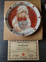 """JAN HAGARA 1983 COLLECTIBLE PLATE #3686 """"SHANNON'S SWEETHEART"""" W/ COA & BOX e"""