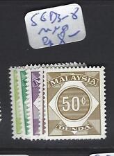 MALAYA  MALAYSIA   (P3007BB)   POSTAGE DUE SG   3-8  MNH