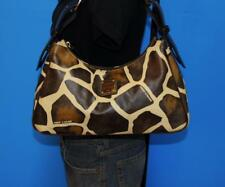 DOONEY & BOURKE Giraffe Print Leather Hobo Shoulder Slouch Satchel Zip Purse Bag