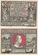 Germany 50 Pfennig 192 Eisenach Notgeld UNC RARE SERIES Banknote - Red