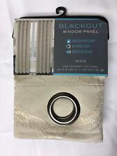 """Blackout Window Panel Geode Grommet Top Panel 50"""" x 63"""" Linen"""