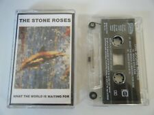 STONE ROSES WHAT THE WORLD IS WAITING FOR / FOOLS GOLD CASSETTE TAPE SILVERTONE