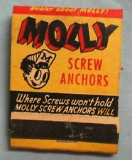 Vintage Molly Screw Anchors, Reading PA Matchbook Unstruck