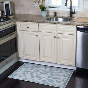 Non-Skid Ultra-Thin Area Rugs for Laundry Room, Entryway, Bathroom and Kitchen