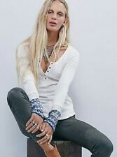 NEW FREE PEOPLE ALPINE SKI CUFF THERMAL HENLY  SWEATER  IVORY. **SIZE SMALL **