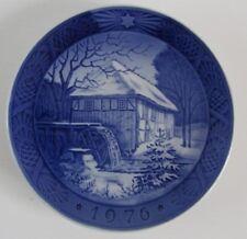Royal Copenhagen 1976 Christmas Blue Plate Vibaek Water Mill