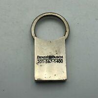 Vintage Mercedes Benz Benzel Busch Advertising Silver Tone FOB Keychain  K6