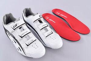 Louis Garneau Carbon X-Lite Road Shoes US Men's 12 EU 45.5 3 Bolt Cleat White