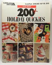 200+ Holiday Quickies Cross Stitch Patterns Book Leisure Arts 2930 Ornaments