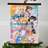 Sailor Moon Cosplay Poster Tsukino Usagi Wall Scroll Hanging Picture Home Décor