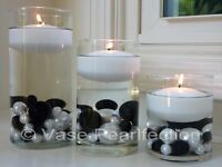 """3"""" White Floating Candles - Set of 3 Candles Value Pack - Unscented"""