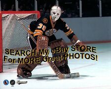 Plain WHITE FIBERGLAS Mask! Dave REECE Repositions BOSTON Bruins CUSTOM 8X10 !!!