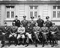 WWII B&W Photo Eisenhower, Patton, AEF Staff  US Army World War Two SHAEF WW2
