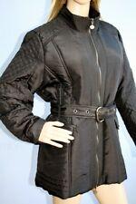 Godske Black Mid Length Padded Jacket Coat with Belt Size 16